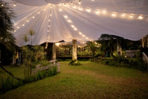 Parachute tent paradiso 5 Outdoor Venue Inspirations We Saw From Celebrity Weddings