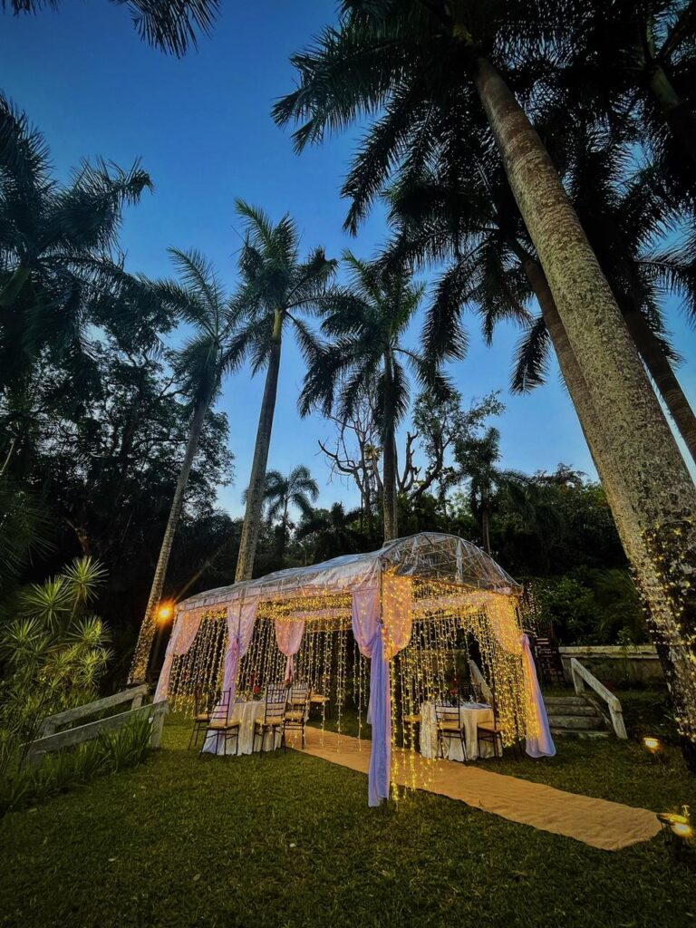 Transparent tent with Fairy lights