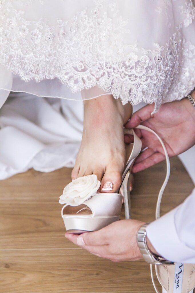 leg, woman, bride