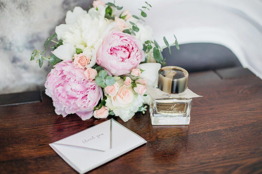 letter, love, bouquet