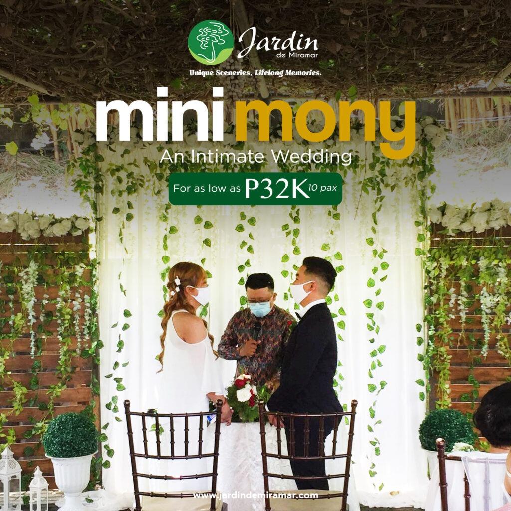 Jardin's MINImony Intimate wedding package