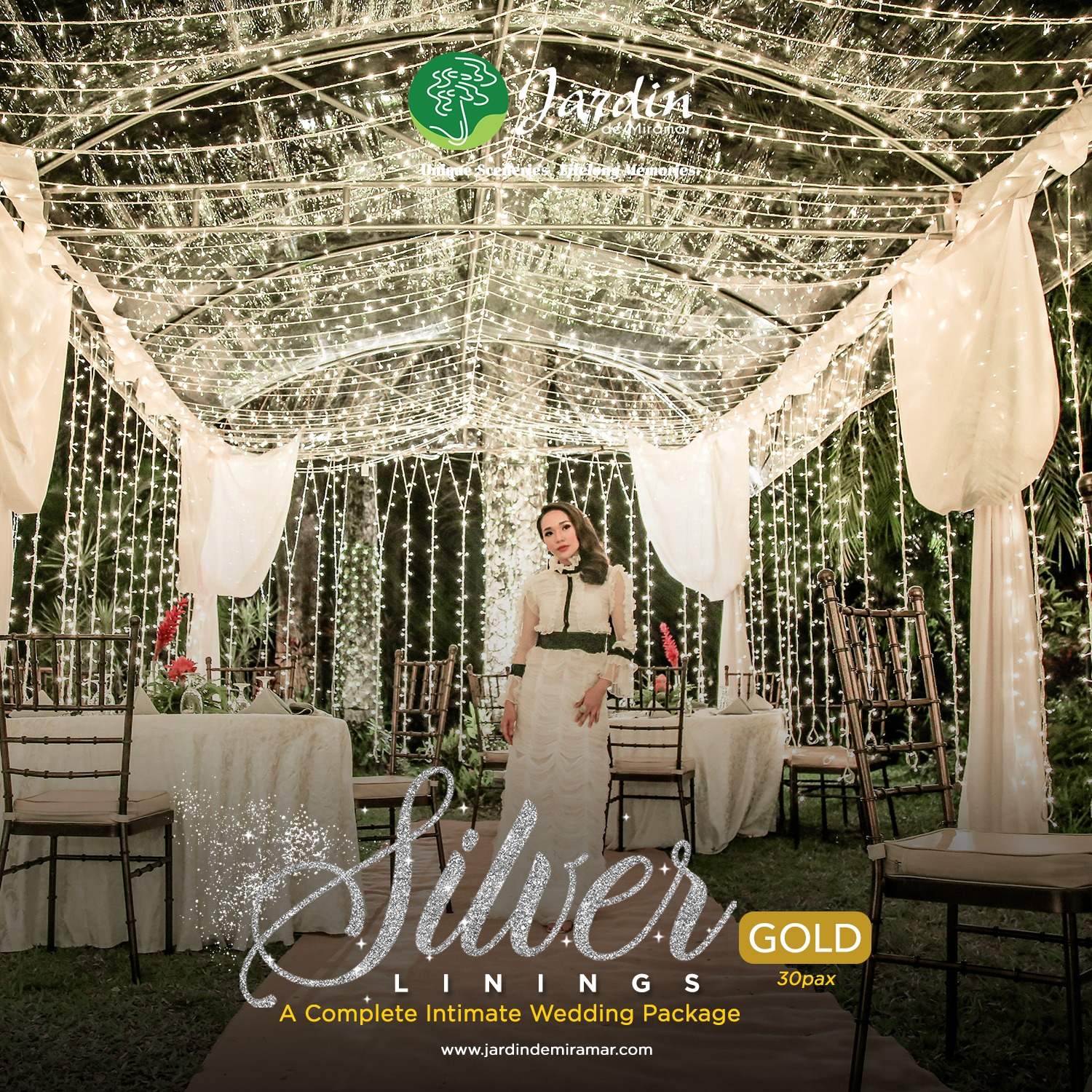 Silver Lining Wedding promo gold