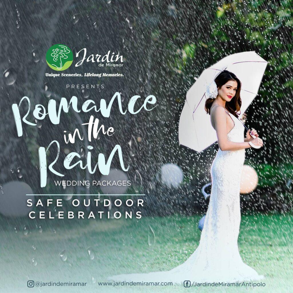 Jardin de Miramar's Romance in the Rain Weddings